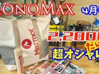 【雑誌付録】MonoMax 4月号 付録は Marmot(マーモット)通常版は保冷・保温バック、 増刊号はステンレスボトル♪