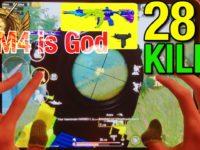 【PUBG MOBILE】 God Skin is M416 !! CONQUEROR Player 6Fingers Hand Cam ④ SOLOvsSQUAD  28kills !!