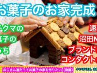 おじさん達だってお菓子のお家を作りたい(後編)【プチクマのお菓子のおうち】